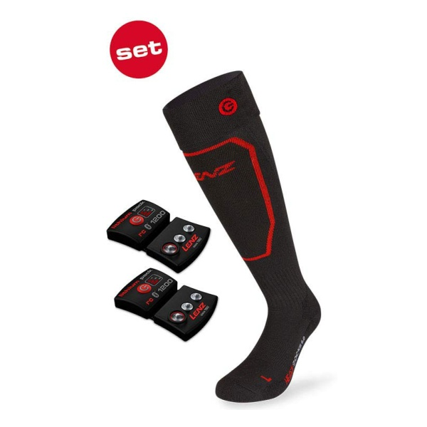 Набор LENZ Lenz носки унисекс + аккумулятор Heat Sock 1.0 Lithium Pack RCB 1200 (адаптер Eu/Us) черный 45/47 перчатки lenz lenz heat glove 3 0 мужские черный m