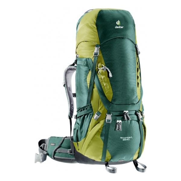 Рюкзак Deuter Deuter Aircontact 65 + 10 зеленый 75л deuter рюкзак deuter 2015 aircontact aircontact 50 10 sl emerald titan