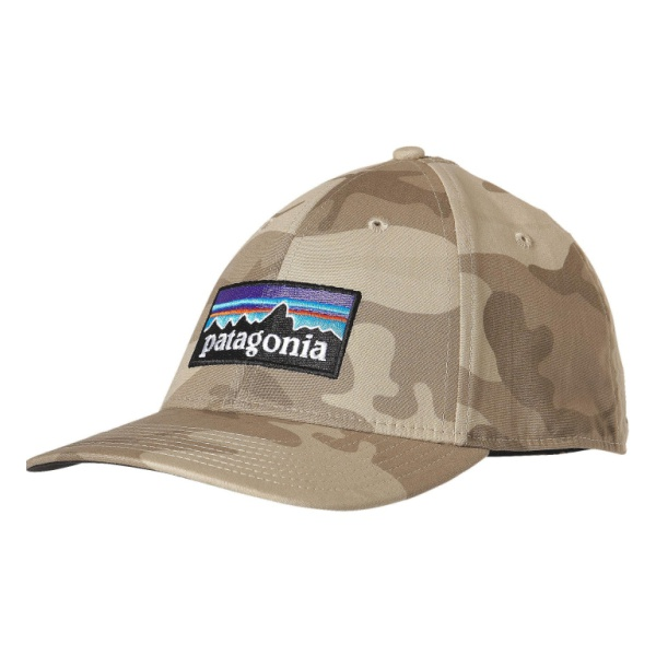 Кепка Patagonia Patagonia P-6 Logo Stretch Fit Hat хаки L