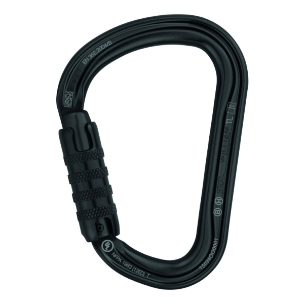 все цены на Карабин Petzl Petzl William Triact-Lock Black черный TRIACT/LOCK онлайн