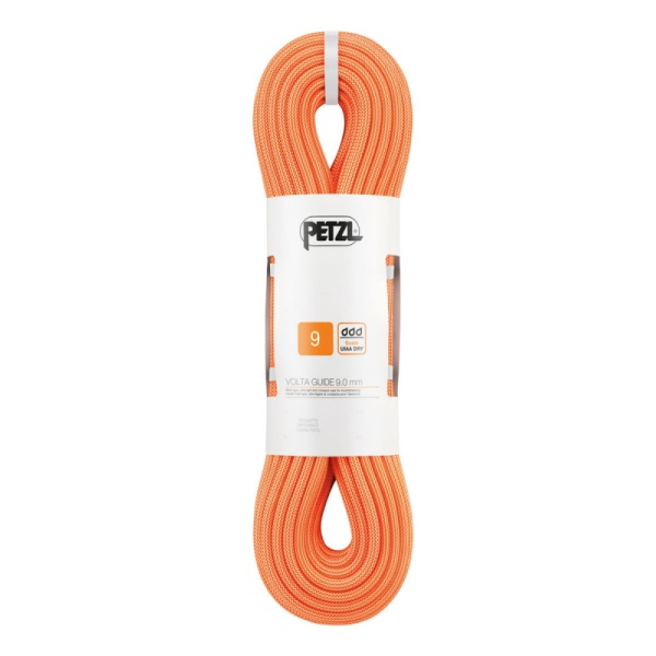 Веревка динамическая Petzl Petzl Volta Guide 9 мм (бухта 60 м) оранжевый 60M