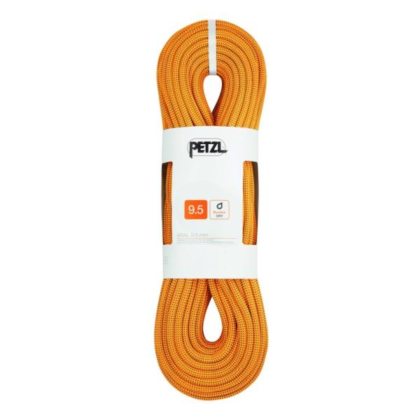 Веревка динамическая Petzl Petzl Arial 9,5 мм (бухта 80 м) оранжевый 80M веревка динамическая petzl petzl volta guide 9 мм бухта 30 м оранжевый 30m