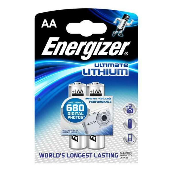 цены  Батарейка ENERGIZER S.A Energizer Ultim Lith FR06 AA в бл.2 шт.