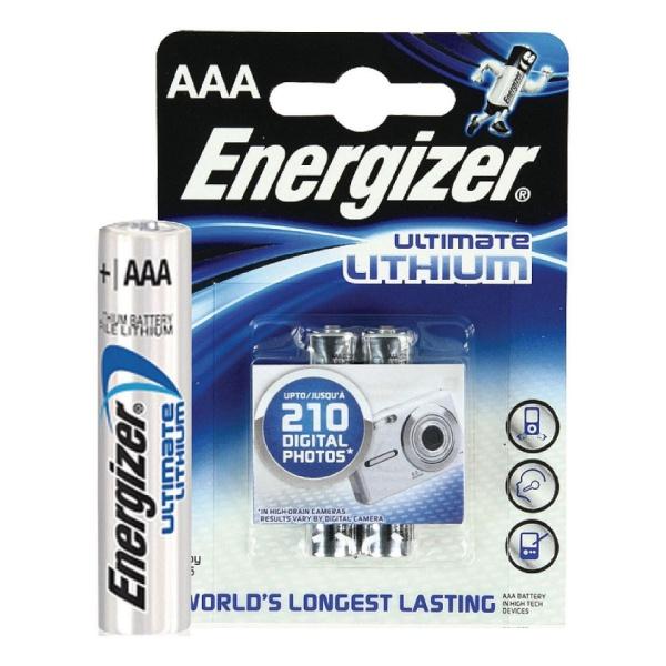 Батарейка ENERGIZER S.A Energizer Ultim Lith FR03 AAA в бл.2 шт батарейка energizer base aaa multi blister 20 шт