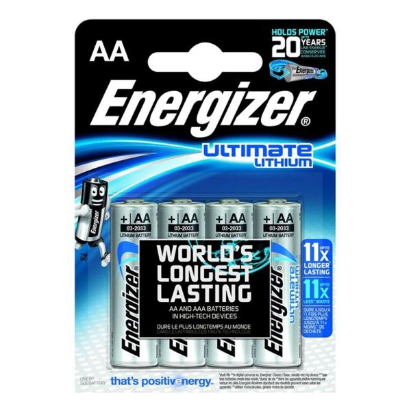 Батарейка ENERGIZER S.A Energizer Ultim Lith FR06 AA в бл.4