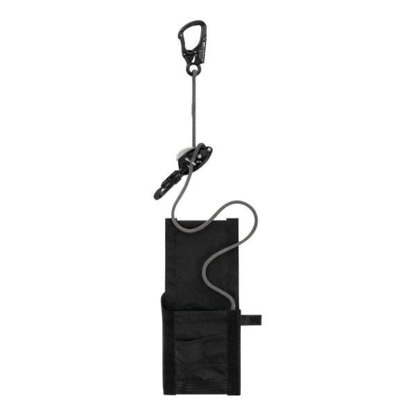 Система эвакуационная индивидуальная Petzl Petzl Exo Eashook с карабином Eashook черный 15M цена и фото