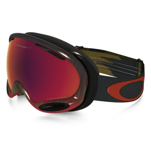 Горнолыжная маска Oakley Oakley A Frame 2.0 темно-красный oakley airbrake mx herlings signature series goggles orange frame fire iridium lens