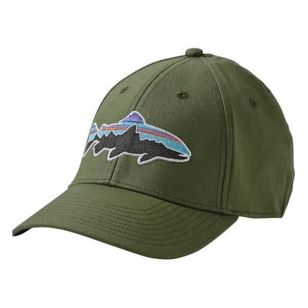 Кепка Patagonia Patagonia Fitz Roy Trout Stretch Fit Hat зеленый S