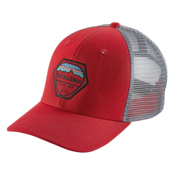 Кепка Patagonia Patagonia Fitz Roy Hex Trucker Hat темно-серый ALL цена