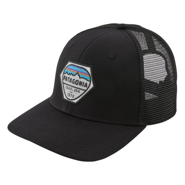 Кепка Patagonia Patagonia Fitz Roy Hex Trucker Hat черный ONE