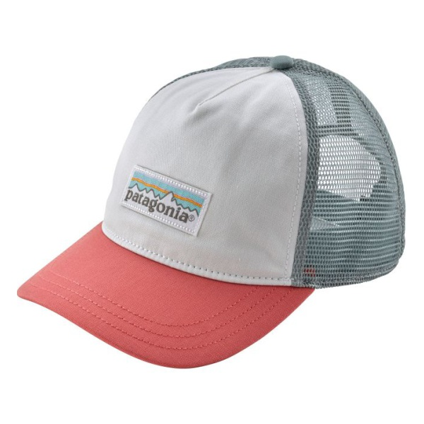 Кепка Patagonia Patagonia Pastel P-6 Label Layback Trucker Hat женская белый ONE* lightweight quick dry mesh trucker hat