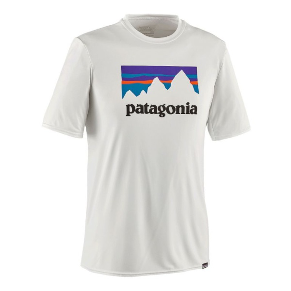 Футболка Patagonia Patagonia Cap Daily Graphic T-Shirt turndown collar color block panel stripe graphic shirt