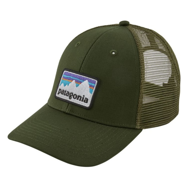 Кепка Patagonia Patagonia Shop Sticker Patch Lopro Trucker Hat темно-зеленый ONE lightweight quick dry mesh trucker hat