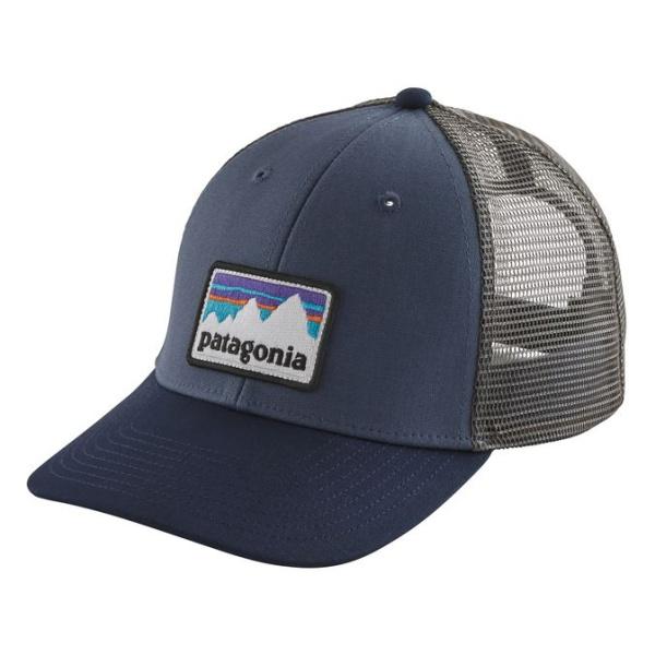 Кепка Patagonia Patagonia Shop Sticker Patch Lopro Trucker Hat темно-синий ONE недорого