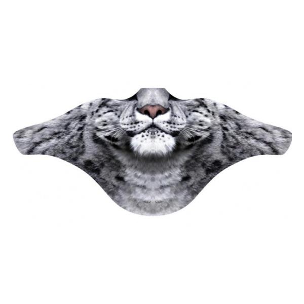 Маска ветрозащитная Funtomask Ирбис серый ONE маска для дыхания