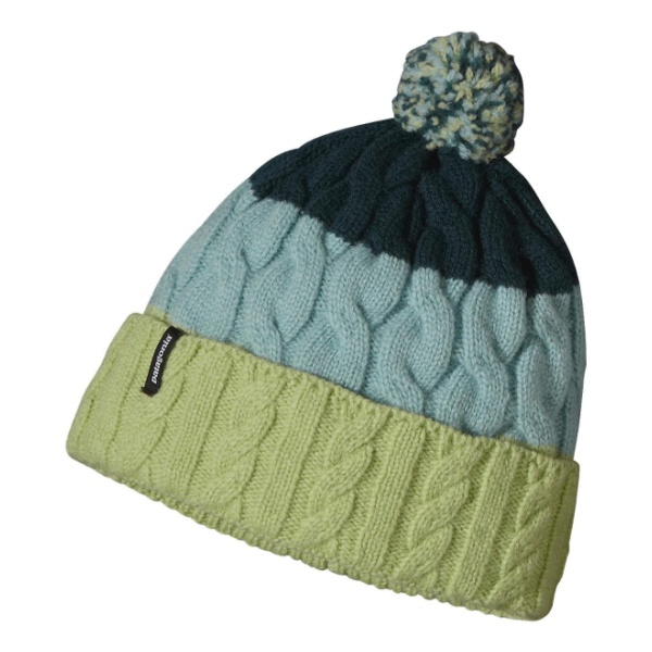 Шапка Patagonia Patagonia Pom Beanie светло-зеленый llama and pom poms snow jackets p