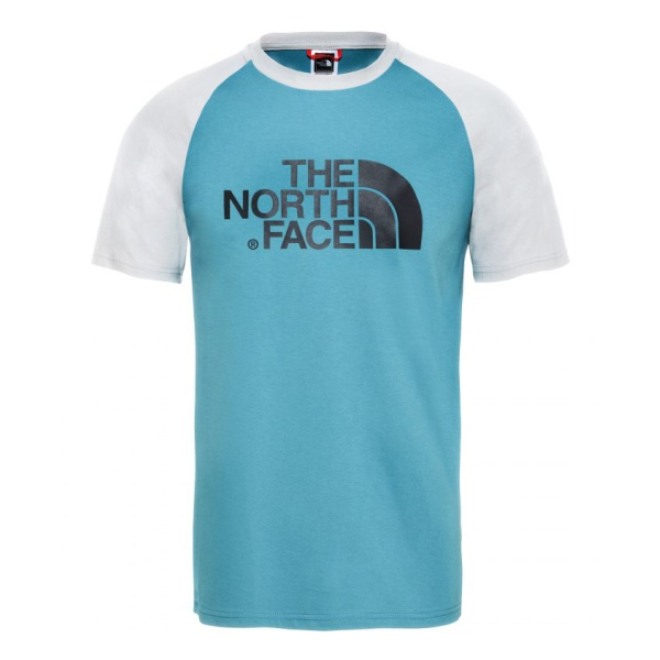 Футболка The North Face The North Face SS Raglan Easy Tee face print mock neck tee