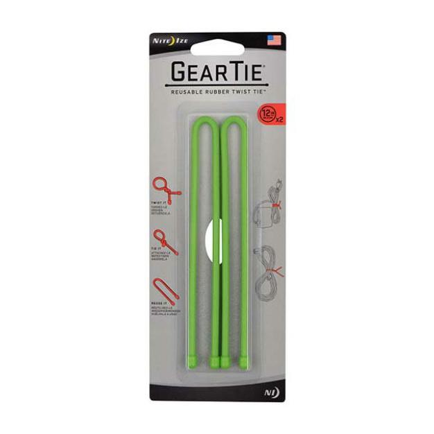 Стяжки гибкие Nite Ize Nite lze Gear Tie набор 12 2 шт темно-зеленый nite ize gear tie 24 2pk neon yellow