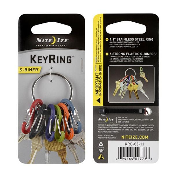 Брелок для ключей Nite lze Key Rack серый