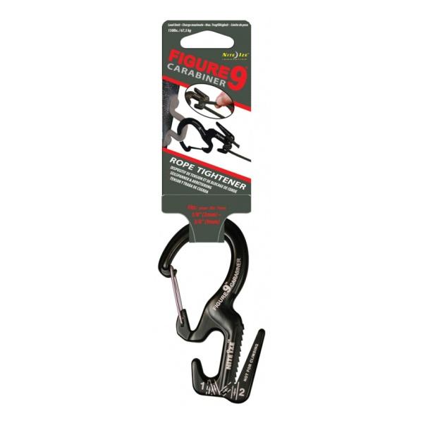 Крепление для веревки Nite Ize Nite lze 9 с карабином черный nite ize figure 9 large stainless rope