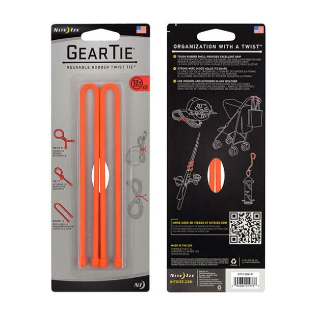 Стяжки гибкие Nite Ize Nite Ize Gear Tie набор 12 2шт оранжевый nite ize gear tie 24 2pk neon yellow