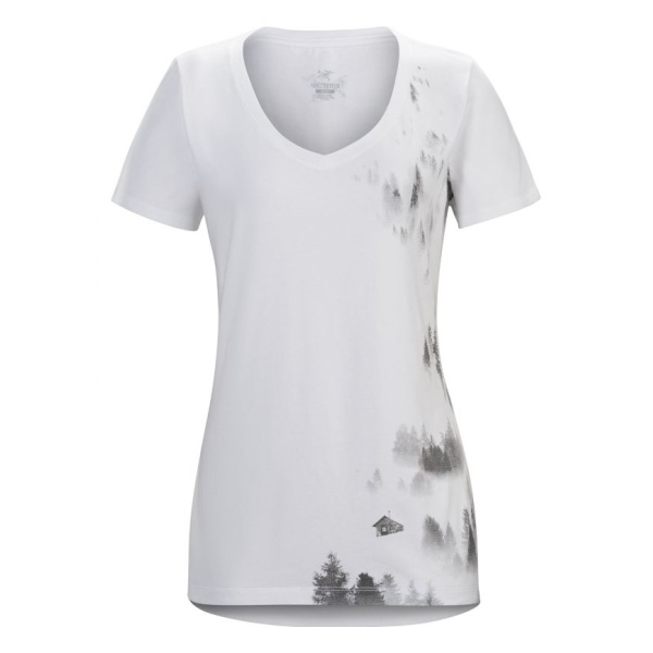 Футболка Arcteryx Arcteryx Morning SS V-Neck женская v cut neck floral print blouse