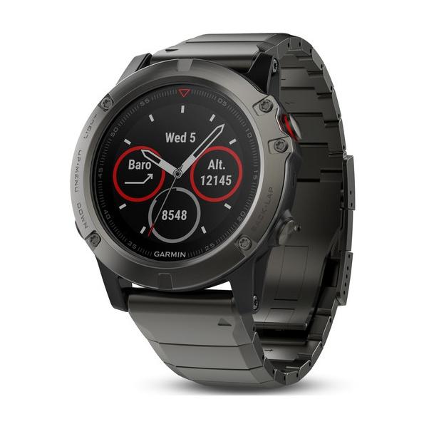 Часы Garmin Garmin Fenix 5X Sapphire Slate серый garmin смарт часы vivofit slate hrm1