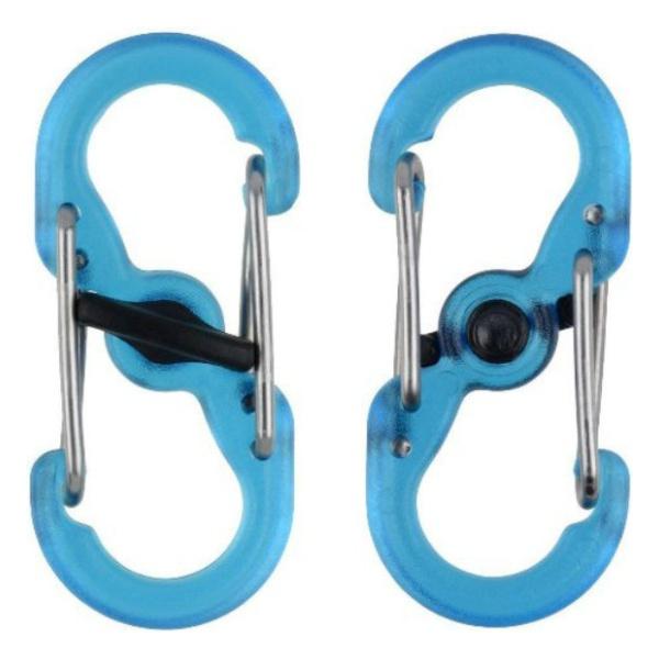 Карабин Nite Ize Nite Ize S-Biner Microlock 2 шт. синий nite ize s biner slidelock размер 2 стальной
