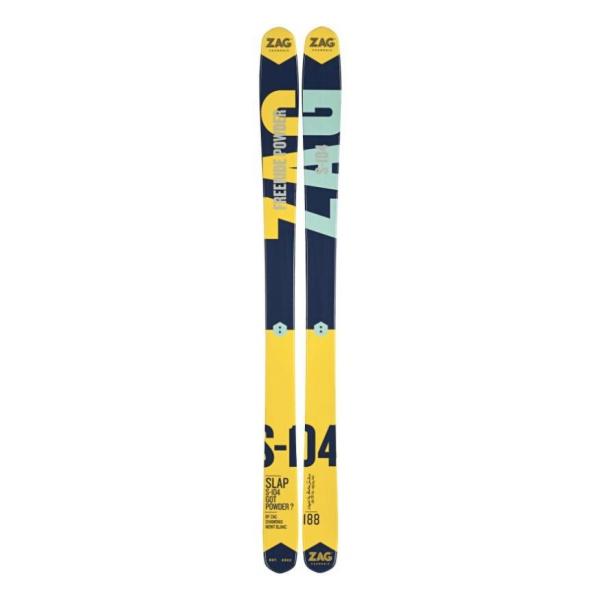 Горные лыжи ZAG ZAG Slap 104 (17/18) лыжи беговые tisa top universal с креплением цвет желтый белый черный рост 182 см