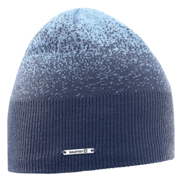 Шапка Salomon Salomon Angel Beanie женская синий ONE шапки salomon шапка big fourax beanie