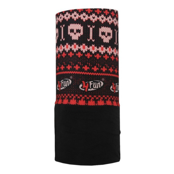 Купить Бандана 4FUN Polartec Skull Red
