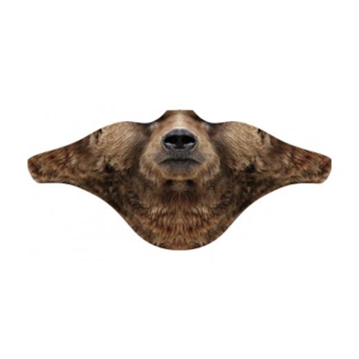 """Маска Funtomask ветрозащитная Funtomask """"Медведь"""" коричневый ONE балаклава funtomask funtomask windblock черный one"""