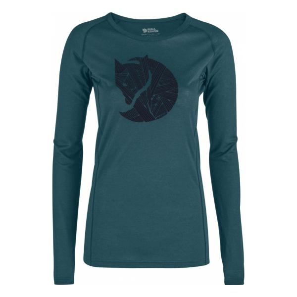 Футболка FjallRaven FjallRaven Abisko Trail T-Shirt Printed Ls женская куртка fjallraven fjallraven keb женская
