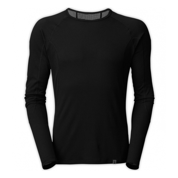 Футболка The North Face The North Face Light Long Sleeve Crew Neck black v neck long sleeves curved hem shirt dress