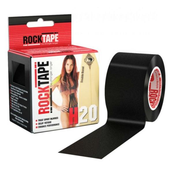 Кинезиотейп Rock Tape Rock Tape H2O черный 5смх5м