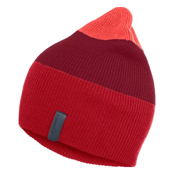 Шапка Norrona Norrona 29 Striped Mid Weight Beanie красный ONE термоноски guahoo sport mid weight 150 cf bk