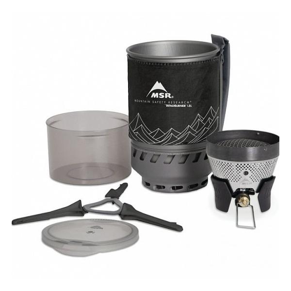 Горелка газовая MSR MSR Windburner 1L черный 1л