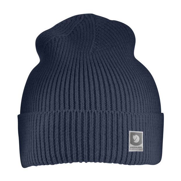 Шапка FjallRaven Greenland Cotton Beanie синий ONE
