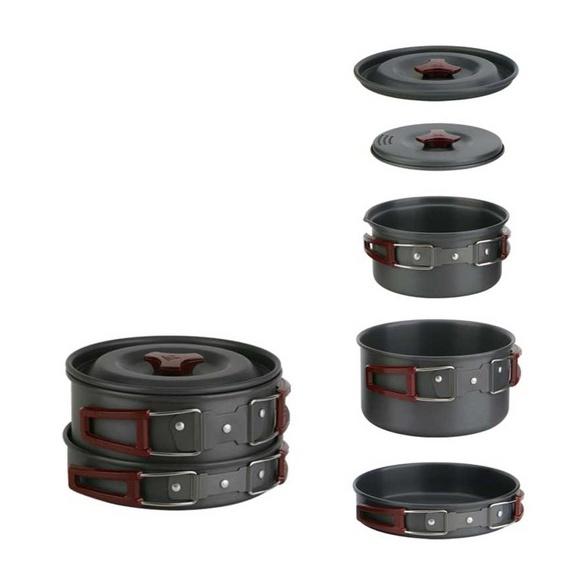 где купить Набор посуды, алюминиевый с антипригарным покрытием Fire-Maple Fire-Maple FMC-202 дешево