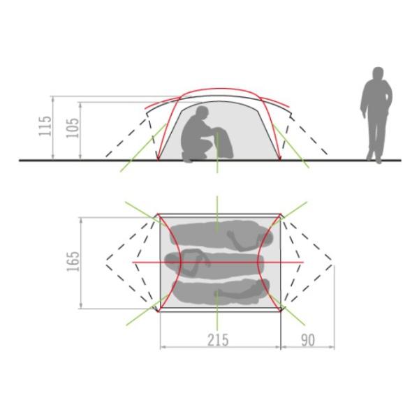 Палатка Vaude Mark UL 3P  - купить со скидкой