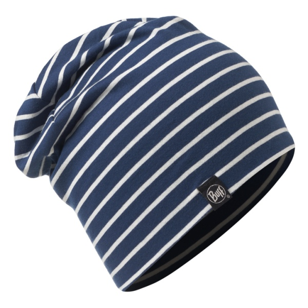 Шапка BUFF Buff Cotton Hat Denim Stripes темно-синий ONE buff бандана buff frozen child polar buff one size olaf blue navy