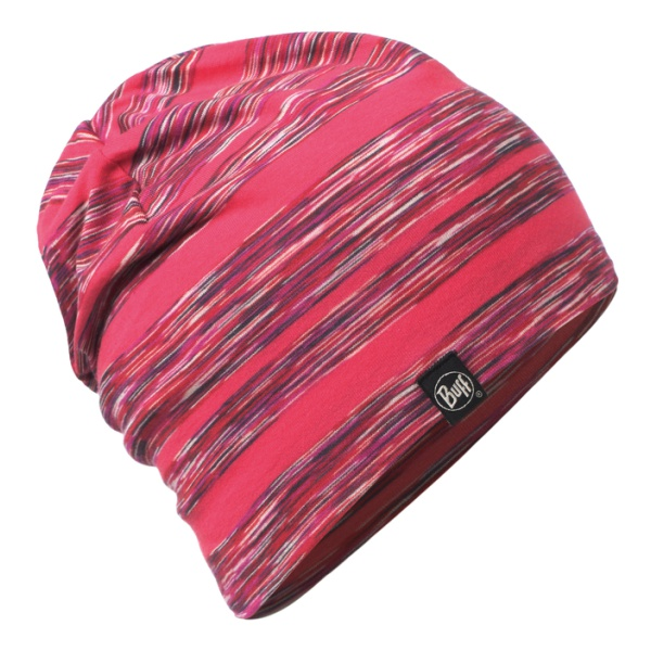 Шапка BUFF Buff Cotton Hat Wild Pink Stripes темно-розовый ONE