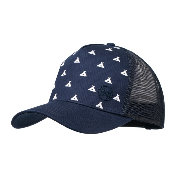 Кепка BUFF Buff Trucker Cap Campfire Navy темно-синий ONE buff бандана buff frozen child polar buff one size olaf blue navy