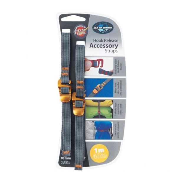 Стропа SEATOSUMMIT SeatoSummit Accessory Strap With Hook Buckle 10mm Webbing - 1.0m желтый 1м