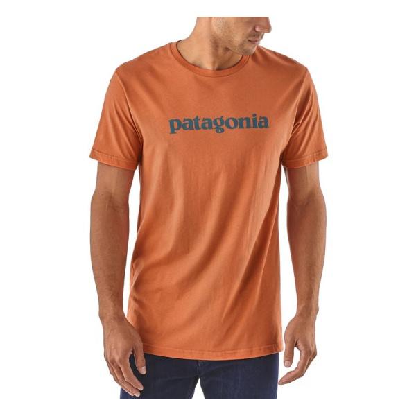 Купить Футболка Patagonia Text Logo Organic T-Shirt