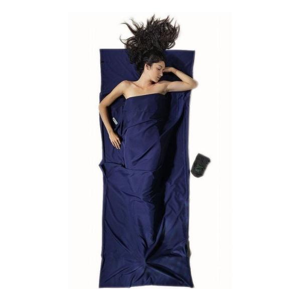 Вкладыш в спальник Cocoon Cocoon Microfiber Travelsheet темно-синий 220X90CM