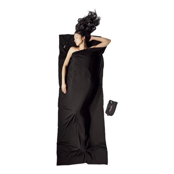 Вкладыш в спальник Cocoon Cocoon Merino Wool Travelsheet черный 220X85CM вкладыш в спальник cocoon cocoon microfiber travelsheet темно синий 220x90cm