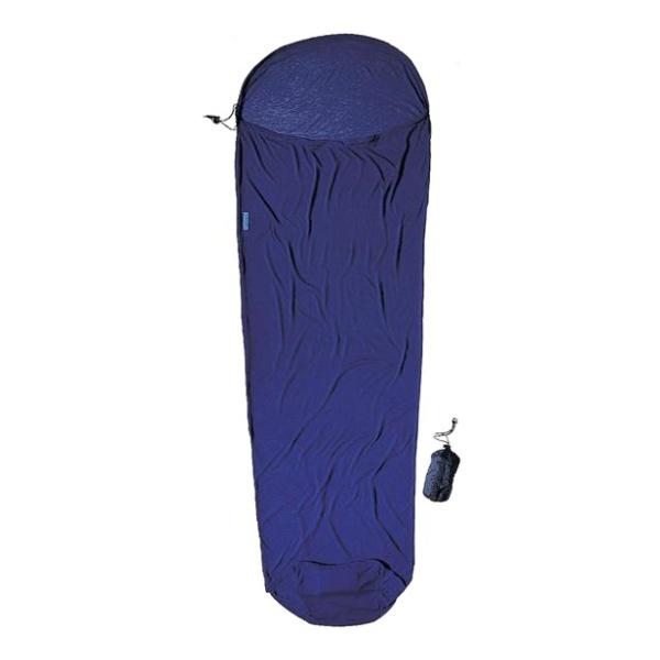 Вкладыш в спальник Cocoon Coolmax Mummyliner темно-синий 220X80/60CM вкладыш в спальник cocoon cocoon microfiber travelsheet темно синий 220x90cm