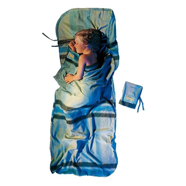 Вкладыш в спальник Cocoon Cocoon Kidsack, Travelsheet голубой 180X76CM