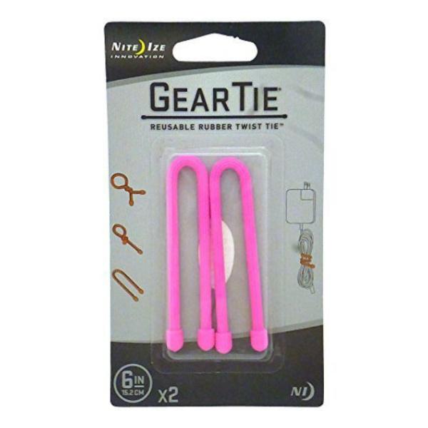Стяжки гибкие Nite Ize Nite Ize Gear Tie набор 6 2 шт розовый 6